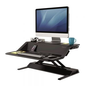 Lotus™ Sit-Stand Workstation - Black - open view