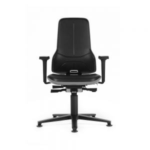 Bimos ESD Neon - Standard Height (450-620 mm), ESD Glides - front view, with armrests