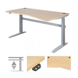 DeskRite 500 Electric Height Adjustable Desk - Right Wave