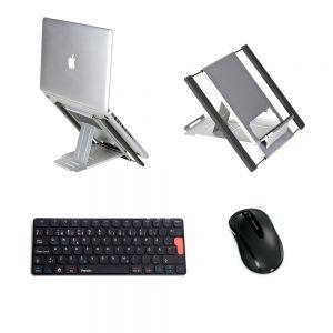 Slim Cool Laptop Stand, Penclic KB3 Mini Keyboard & Microsoft 4000 Mouse